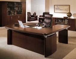 contemporary dark wood office desk. Wonderful Desk Desk Office Desks Executive Desk Dark Wooden With Elegant Black  Leather Chair On Contemporary Wood C