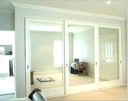 closet mirror sliding doors parts door