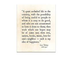 Amazon Life Quote Happiness Quote Leo Tolstoy Inspirational Enchanting Happiness Quote