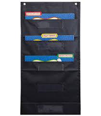 File Folder Storage Black Pocket Chart By Carson Dellosa