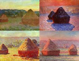 haystacks series artist claude monet did 25 canvases of this subject be