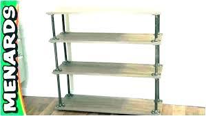 rustic metal shelf shelving brackets shelves diy