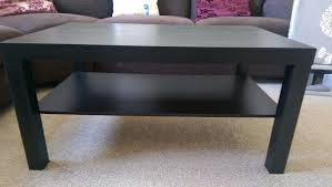 brand new ikea lack coffee table black brown side table dark