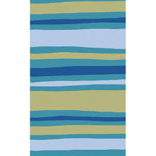 abigail striped rug in blue and green