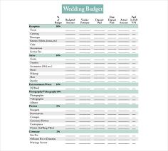 15 Wedding Budget Templates Free Pdf Docs Xls Format