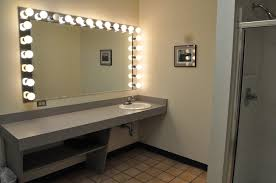 long vanity mirror with lights