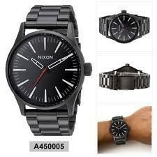 nixon sentry wristwatches nixon analog sport watch sentry black mens a450005