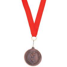 """Медаль наградная на ленте """"Бронза""""; 48 см., D=5см.; текстиль ..."""