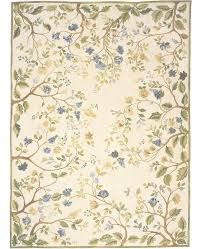 area rugs scottsdale blue summer needlepoint e inc fine rugs an ivory green blue and yellow rug carpet available through e oriental rugs in area