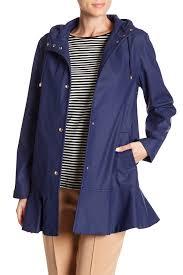 image of kate spade new york ruffle hem trench coat