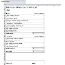 Personal Financial Statement Blank Forms 8 How To Write A Personal Financial Statement Sample Template Free