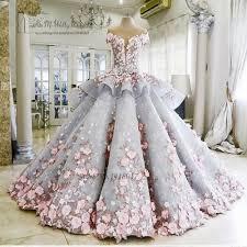 Bunte Luxus Brautkleider Rosa Blumen Verträumten Ballkleid ...