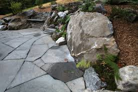 flagstone patio with fire pit. Firepit In Natural Flagstone Patio. Patio With Fire Pit 0