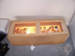 homemade wood en incubator for eggs