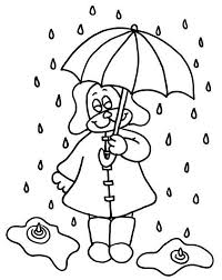 Small Picture Little Puppy Under Raindrop with Umbrella Coloring Page Little