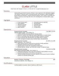 Substance Abuse Counselor Resume Example Examples Of Resumes