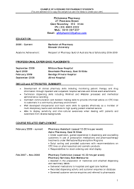 Casual Resume Example Pharmacy Resumes Examples Resume Cover Letter 36