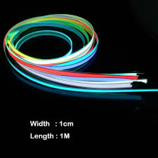 online get cheap el wire colors aliexpress com alibaba group new arrival colorful electroluminescent tape el tape el wire aa battery power 1m x 1cm 8