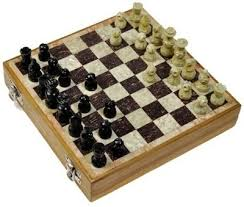 marble chess set with wooden box size dimension 8x8 inches