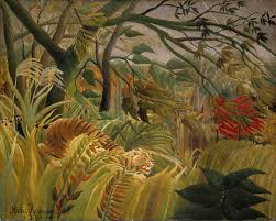 henri rousseau 1891 was the first of many jungle scenes for which rousseau is best known
