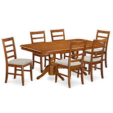 August Grove Pillsbury 7 Piece Wood Dining Set With Double Pedestal