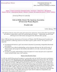 Girls in Public School: The American Association of University Women  Reports by Advancing Women in Leadership Journal - issuu