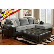 Living Room Sectionals With Chaise Cumulus Black Gray Two Toned Sectional Sofa Chaise Set Made In