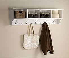 White Coat Rack Wall Mounted Amazon White 100 Ft Entry Hall Shelf with 100 Cubby and 100 Hook Coat 23