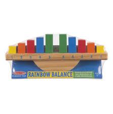 Melissa \u0026 Doug Rainbow Balance Wooden Classic Rocking Toy - Toys\