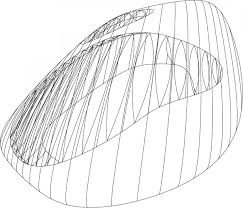 Zaha hadid idea of letterforms as constructed wireframe shapes with abstract qualities