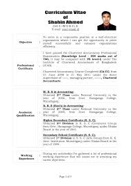Chartered Accountant Resumes Chartered Accountant Cv Template Kidzmagz Co