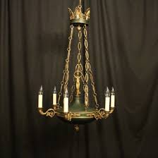 french bronze empire antique chandelier