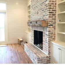 wooden mantel over brick fireplace wood mantels rustic faux beam