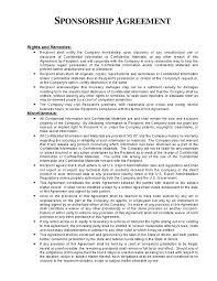 sponsorship agreement sponsorship agreement luxury free racing sponsorship proposal