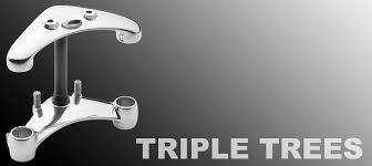 raked triple trees adjustable triple trees