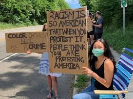 Students Join North Country Peace Group on Setauket Corner | TBR News Media