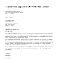 12 Scholarship Application Letter Sle Budget Template Letter