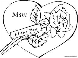 Kleurplaat Moeder I Love Mama