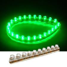 Green Led Light Strips Gorgeous PVC LED Strip IP60waterproof DC60V60V Kiwi Lighting