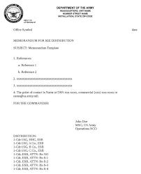 Download Army Memorandum Template 1 For Free Formtemplate