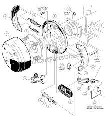brake assembly club car parts & accessories club car ds service manual pdf at Club Cart Parts Diagram