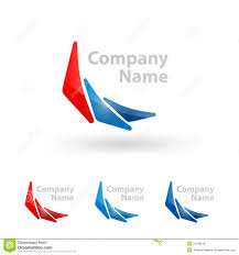 Triangle Logo Company Name Design Stock Vector