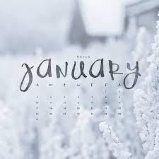Hello January! Downloadable Calendar ...