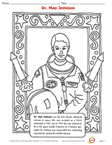 Small Picture Dr Mae Jemison Coloring Page African American History Printable