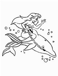 Coloring Pages Little Mermaid Sheets Photo Ideas Shining Design