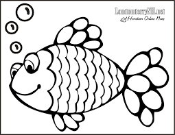 Rainbow Fish Coloring Page Free Large
