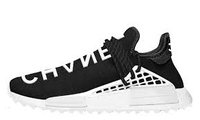 chanel x pharrell adidas. the pharrell williams x chanel adidas nmd human race black is scheduled to release on saturday 25th at colette as well select online stockists - stay