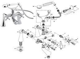 bristan regency bath shower mixer with tall pillars r tbsm c spares breakdown diagram