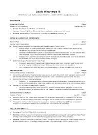Investment Banking Graduate Resume London Sales Banking Lewesmr
