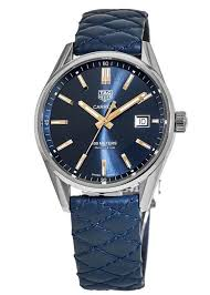 tag heuer carrera quartz blue dial leather strap men s watch for 1 295 for from a trusted er on chrono24
